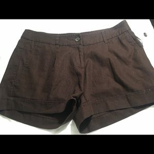 Wills Smith brown shorts 55% Linen 45%cotton 6 NWT